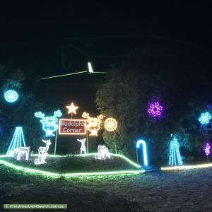 Christmas Light display at 1 Eaglemont Retreat, Conder