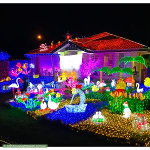 Christmas Light display at 73 Carlingford Circuit, Warner