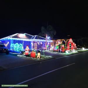 Christmas Light display at 4 Santa Clara Rise, Upper Coomera