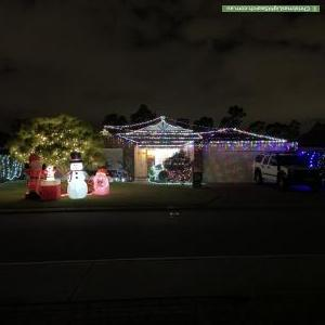 Christmas Light display at 13 Grafton Court, Canning Vale