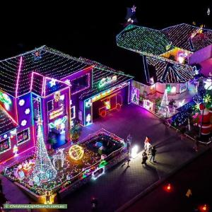 Christmas Light display at 24 Narrien Loop, Hocking