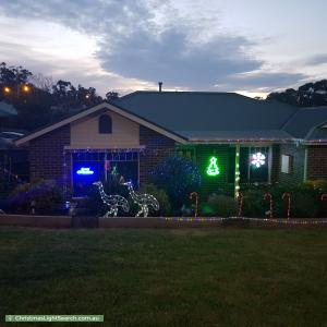 Christmas Light display at 71 Eileen Grove, Woori Yallock