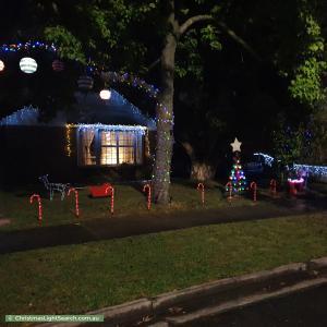 Christmas Light display at 6 Saint George Court, Frankston