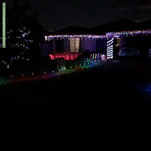 Christmas Light display at 5 Glasson Court, Langford