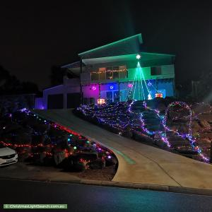 Christmas Light display at 33 Merrivale Drive, Happy Valley