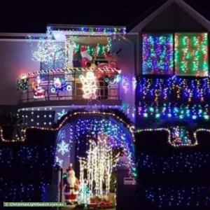 Christmas Light display at 6 Saddler Circle, Mirrabooka