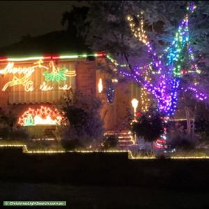 Christmas Light display at 55 Mersey Street, Box Hill North