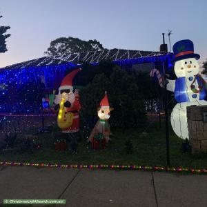 Christmas Light display at 43 Chewings Street, Scullin