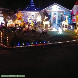 Christmas Light display at 5 Casuarina Court, Rothwell