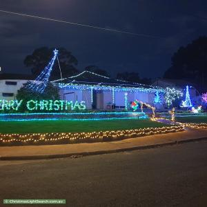 Christmas Light display at 24 Selangor Avenue, Fairview Park