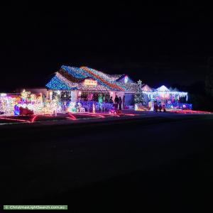 Christmas Light display at 10 Mondial Drive, Warner