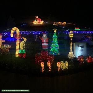 Christmas Light display at 44 Lindsay Pryor Street, Wright