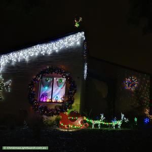 Christmas Light display at 11 Ammon Place, Kambah