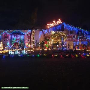 Christmas Light display at 52 Alawoona Road, Munno Para