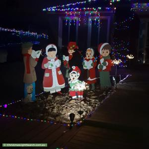 Christmas Light display at 2 Stableford Chase, Melton West