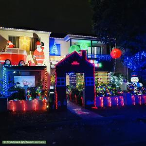 Christmas Light display at 36 Somerset Street, Stanhope Gardens