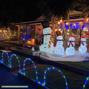 Christmas Light display at 15 Monte Carlo Drive, Point Cook