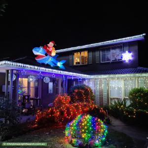 Christmas Light display at 7 Elmhurst Road, Gladstone Park