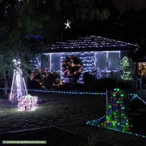 Christmas Light display at 14 Castlefield Square, Wantirna