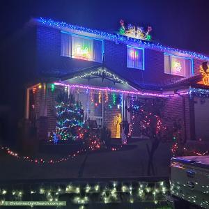 Christmas Light display at 4 Perseus Circuit, Kellyville