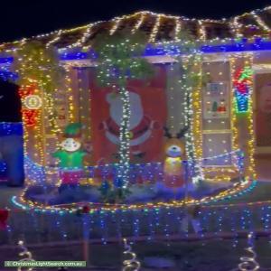 Christmas Light display at  Polwarth Circuit, Dunlop