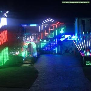Christmas Light display at 36 Childs Circuit, Belrose