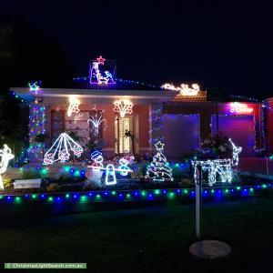 Christmas Light display at 10 Arkley Close, Skye