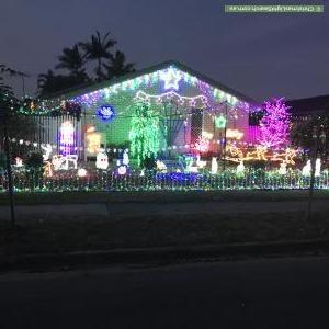 Christmas Light display at 23 Arnica Crescent, Bald Hills