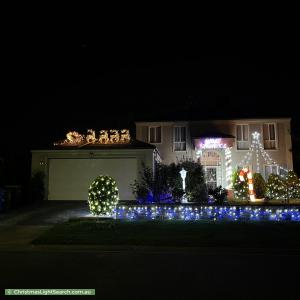 Christmas Light display at 16 Croxley Place, Narre Warren South