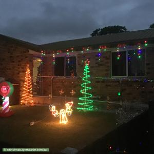 Christmas Light display at 166 Morris Road, Rothwell