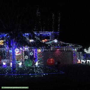 Christmas Light display at 3 Parkwood Place, Bellmere