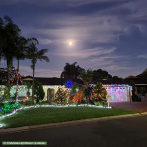 Christmas Light display at 6 Settlers Drive, West Lakes