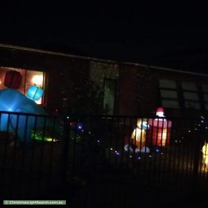 Christmas Light display at 6 Riverina Street, Largs North