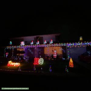 Christmas Light display at 47 Wattle Avenue, Werribee