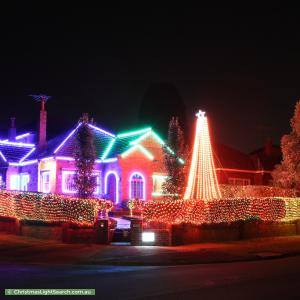 Christmas Light display at 19 Coleman Avenue, Kew East