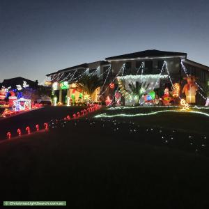 Christmas Light display at 23 Palamino Valley Court, Greenvale