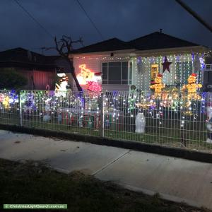 Christmas Light display at 2 Thomas Street, St Albans
