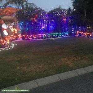 Christmas Light display at 6 Buxton Entrance, Hocking