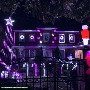 Christmas Light display at 63 Grange Road, Sandringham