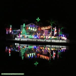 Christmas Light display at 10 Wellya Crescent, South Yunderup
