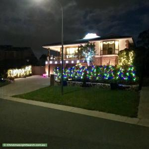 Christmas Light display at 24 Finlayson Place, Gilmore
