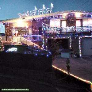 Christmas Light display at 12 Urila Street, Crestwood