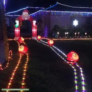 Christmas Light display at 2 Rex Court, Wantirna