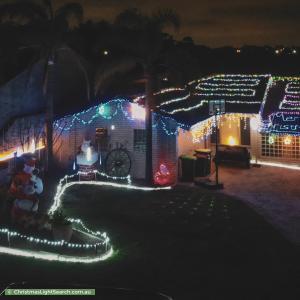 Christmas Light display at 16 Elbury Court, Kingsley