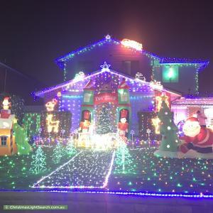 Christmas Light display at 64 Chatsworth Road, Saint Clair