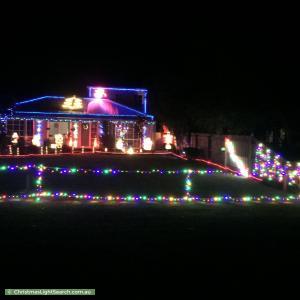 Christmas Light display at 6 Rollings Close, Rosebud