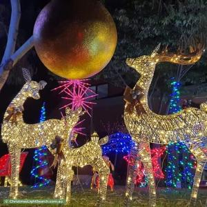 Christmas Light display at 13 Landano Way, Doreen