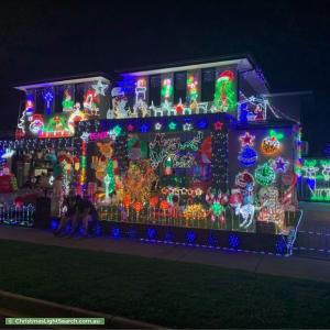 Christmas Light display at 10 Stardust Way, Wollert