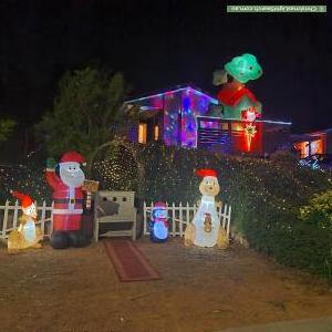 Christmas Light display at 43 Must Circuit, Calwell