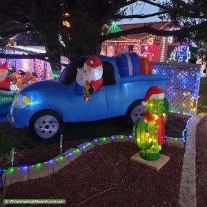 Christmas Light display at 21 McKinley Circuit, Calwell